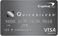 Apply now for the Quicksilver Rewards Card